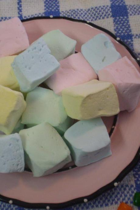 Bubble gum marshmallows handmade candy
