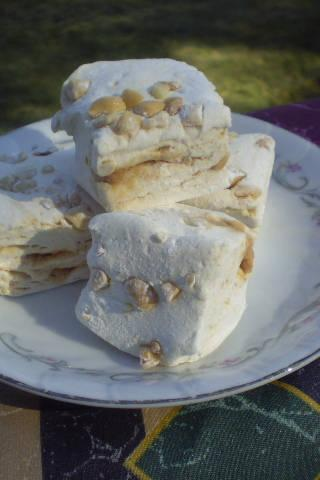 Peanut butter swirl marshmallows handmade candy