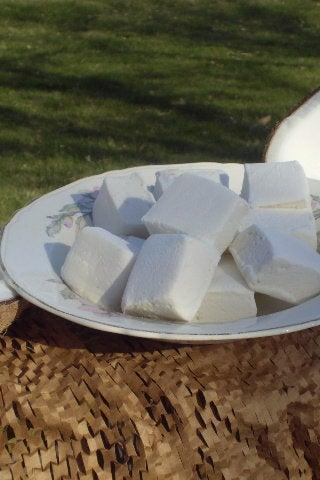 Coconut marshmallows handmade sweets
