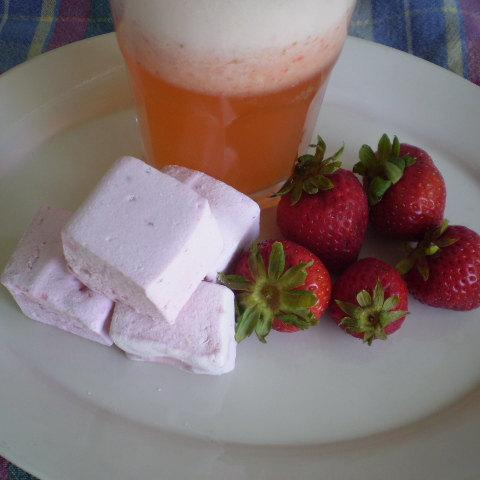 Strawberry Lemonade Marshmallows handmade confections